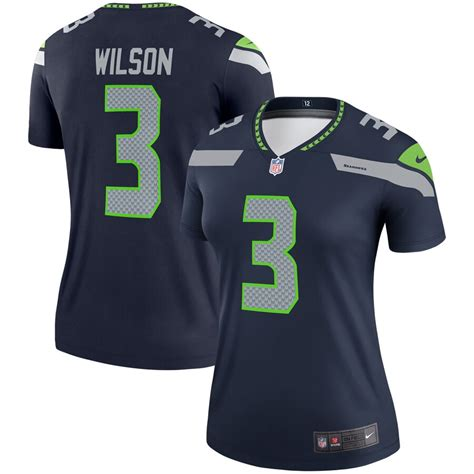 womens nike russell wilson college navy seattle seahawks