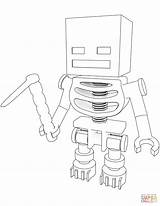 Coloring Skeleton Minecraft Pages Hoe Printable Paper Dot Drawing sketch template