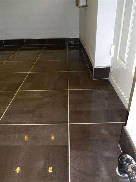 tiled skirting board  chrome trim home sweet home