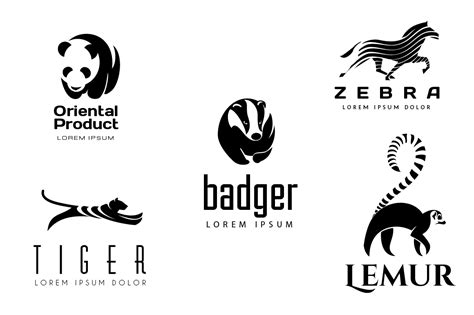 The Honeybadger Html Page Templates by Animal Logos Set 2 Logo Templates On Creative Market