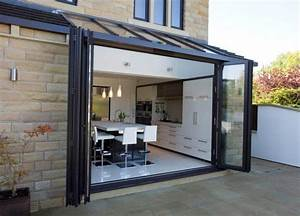 Baie Vitrée Double Vitrage : baie vitr e coulissante empilable en aluminium double vitrage kitchen extensions ~ Voncanada.com Idées de Décoration