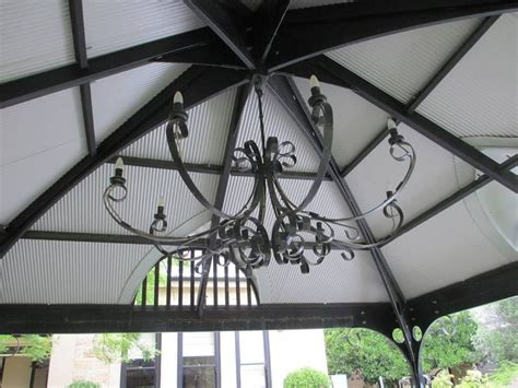 ooh la la the gazebo chandelier garden