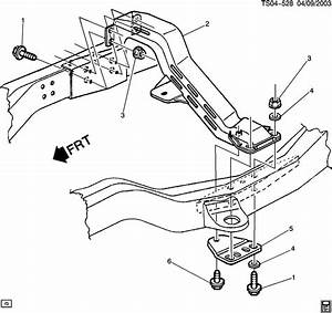 2003 Chevrolet S10 Crossmember  Transmission Mounting