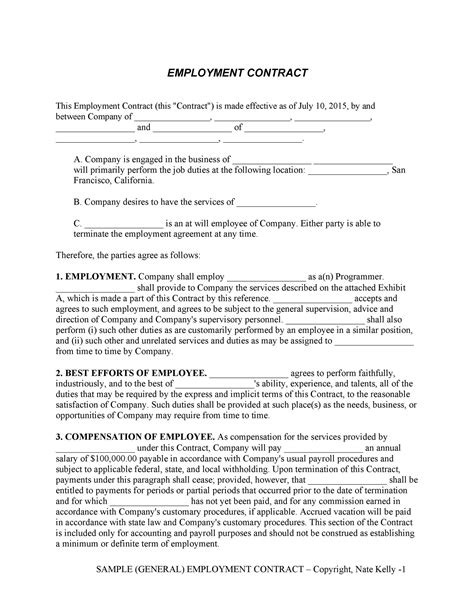 50 Ready-to-use Employment Contracts (Samples & Templates) ᐅ