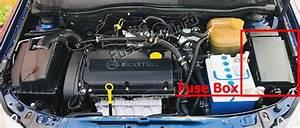 Fuse Box Diagram Opel    Vauxhall Astra H  2004
