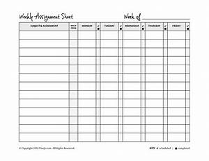 homeschool weekly assignment planner With homeschool checklist template