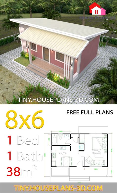 small house plans    bedrooms shed roof tiny house plans