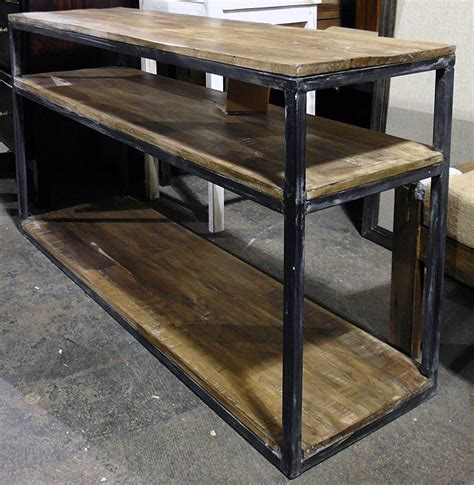 iron wood console table iron and wood console table nadeau dallas 4803