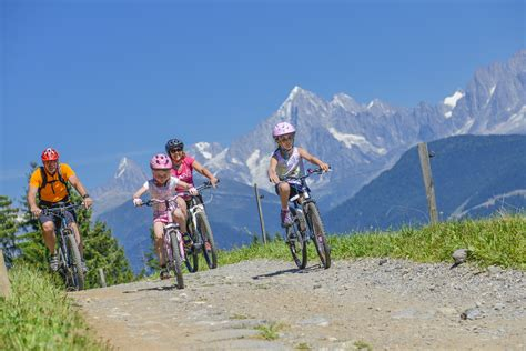 mountain bike moutain bike in combloux pearl of mont blanc ski resort 4km