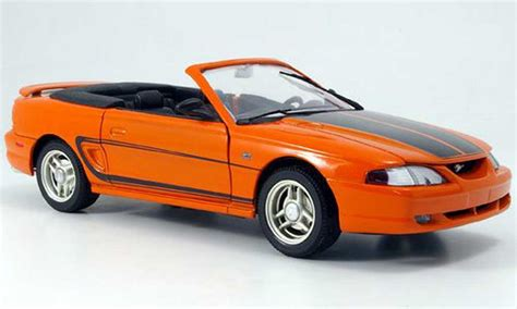 Ford Eagle Car by Ford Mustang 1994 Convertible Orange Gray Streifen Eagle