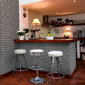 Carreaux Adhesif Salle De Bain : 23 papiers peints motifs carreau de ciment ~ Melissatoandfro.com Idées de Décoration