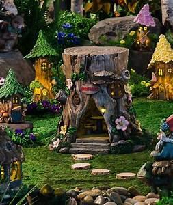 Tree Stump Lighted Fairy House Fresh Garden Decor