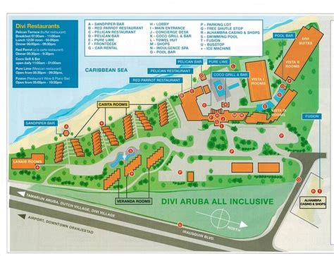 Divi Tamarijn Aruba by Tamarijn Map Picture Of Tamarijn Aruba All Inclusive