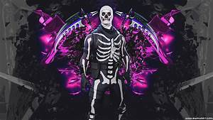 Skull Trooper 4K 8K HD Fortnite Battle Royale Wallpaper