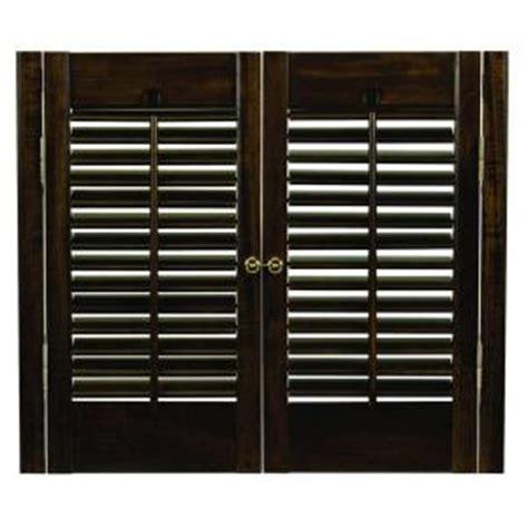 wooden shutters interior home depot homebasics traditional wood walnut interior shutter
