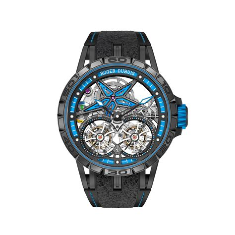 Roger Dubuis Matic Brown Rubber roger dubuis excalibur spider pirelli flying