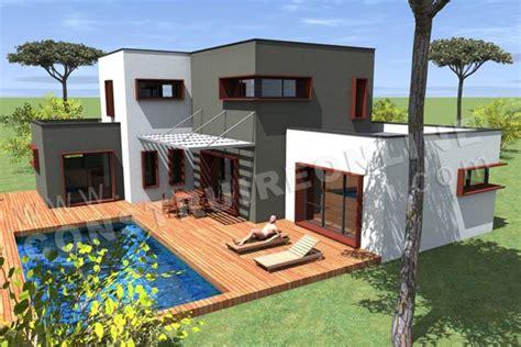 maison de luxe moderne avec piscine chaios