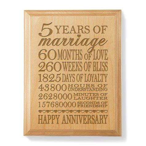 5th wedding anniversary gift ideas for wife marriage