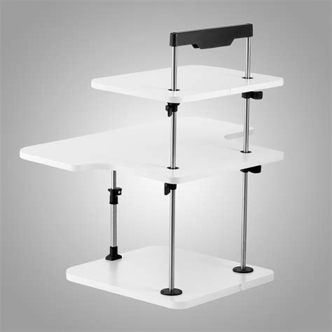 adjustable standing desk 3 tier adjustable computer standing desk light weight