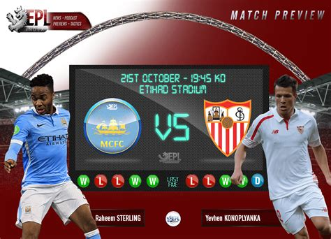 Manchester City vs Sevilla - Champions League Preview ...