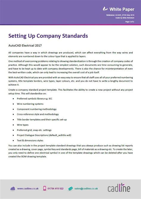 autocad electrical 2017 setting up company standards cadline community