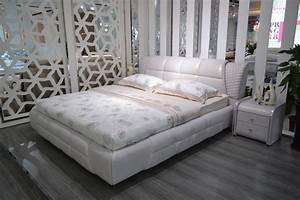 Buy contemporary modern leather audio bed king size for Soft leather sofa bed