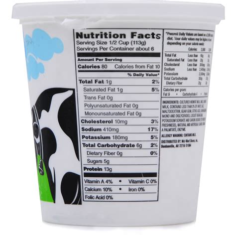 Peachy Fat Free Cottage Cheese Nutrition Facts Home Remodeling Inspirations Cosmcuboardxyz