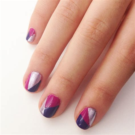 manicure with design diy geometric nail design popsugar