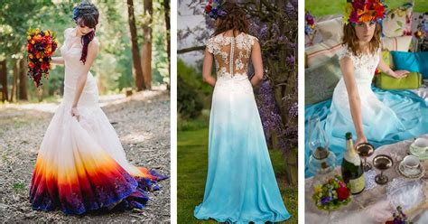 New Dip Dyed Wedding Dress Trend Is Taking Over The Internet