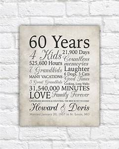 60th anniversary gift 60 years married or any year gift for 60th wedding anniversary gifts