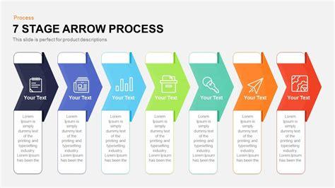 stage process arrow powerpoint template  keynote