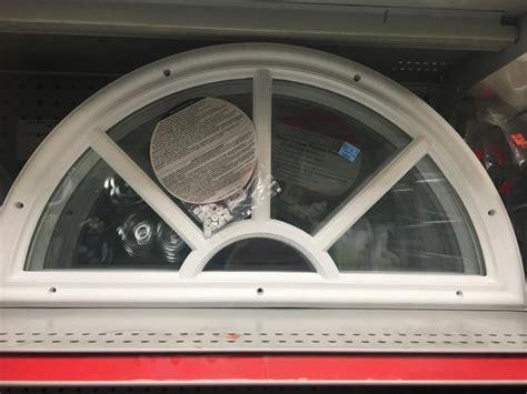 replacement fan lite window  elixir doors  white