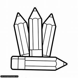 Colour Pencil Clipart Black And White - ClipartXtras