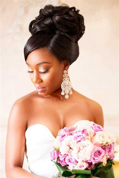 42 black women wedding hairstyles wedding black