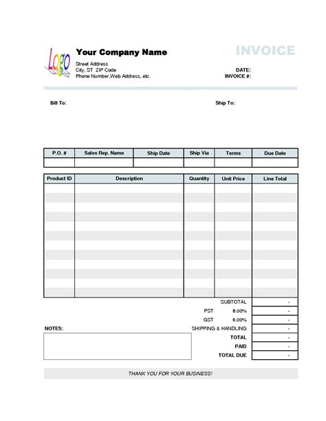 invoice template excel  invoice sample template