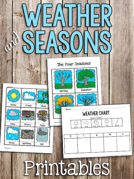 weather seasons printable cards prekinders