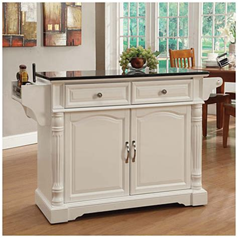 big lots kitchen islands view white granite top kitchen cart deals at big lots