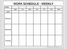 Excel Weekly Calendar Template Printable Blank Awesome