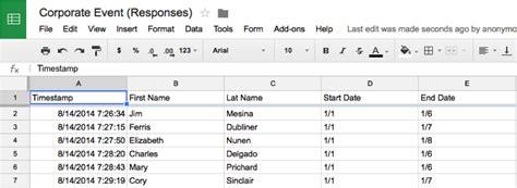create invitations  google forms  spreadsheets
