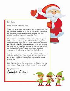being frugal and making it work personalized letters from With free return letter from santa