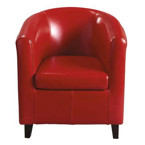 fauteuil club rouge nantucket maisons du monde