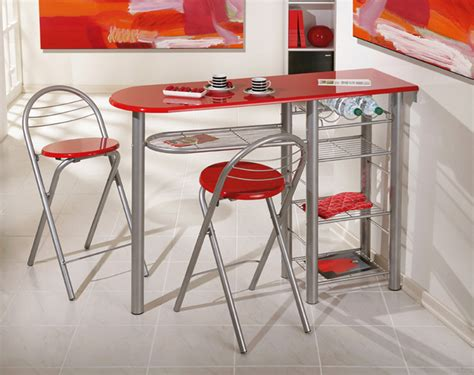 table de cuisine modulable ensemble table bar 2 tabourets brigitte