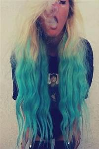 Beautiful turquoise ombre hair | HAIR!!