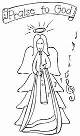 Angel Coloring Christmas Pages Angels Rocks Musical Bookmark Read Sheets Colors Nature Print Url Title Adults Teamcolors Popular sketch template