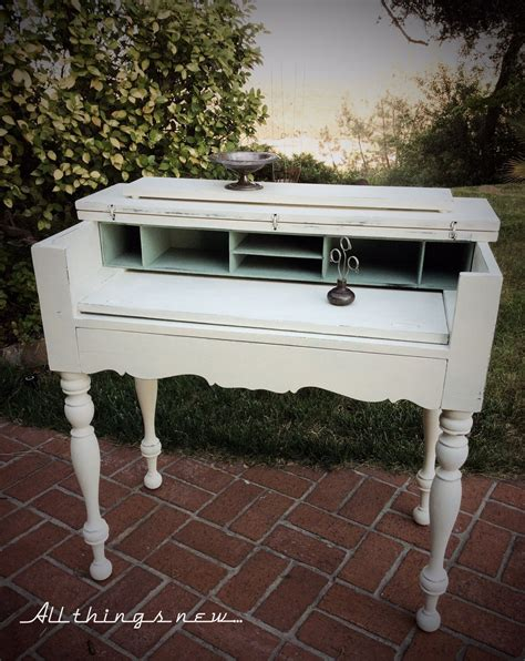 lovely  spinet desk painted  ascps  white