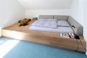 Bett Im Wohnzimmer : bett podest bauen die neuesten innenarchitekturideen ~ Lizthompson.info Haus und Dekorationen