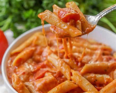 pates sauce tomate  creme au cookeo recette plat cookeo