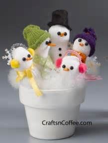 craft a handful of snowmen from a glove crafts n coffee