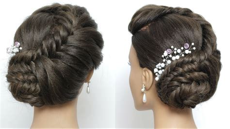 Side Juda Hairstyle For Long Hair Tutorial. Bridal Braid