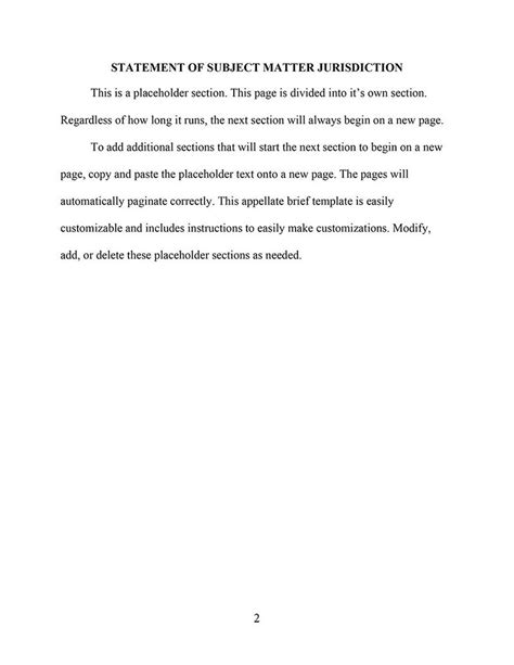 appellate brief template an appellate brief template for microsoft word
